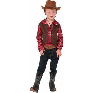 3/$25🌷NEW Cowboy Halloween Costume Boys Sm NO HAT